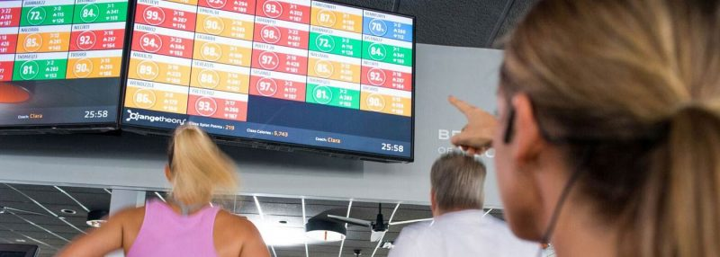 heart-rate monitored workout